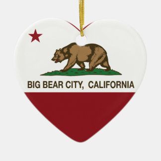 california flag big bear city heart ornaments