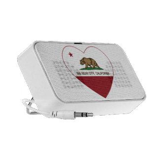 california flag big bear city heart mini speaker