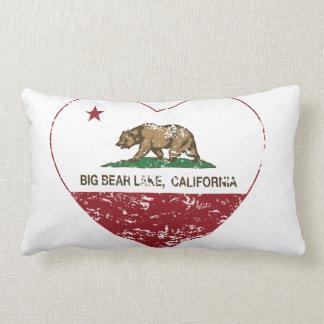 california flag big bear lake heart distressed throw pillows