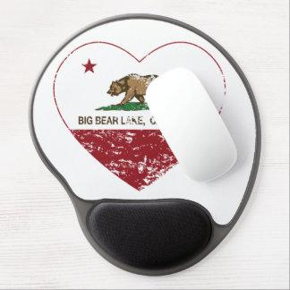 california flag big bear lake heart distressed gel mousepads