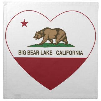 california flag big bear lake heart napkin