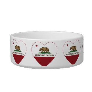 california flag big bear lake heart pet food bowls