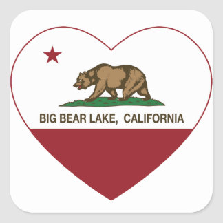 california flag big bear lake heart stickers