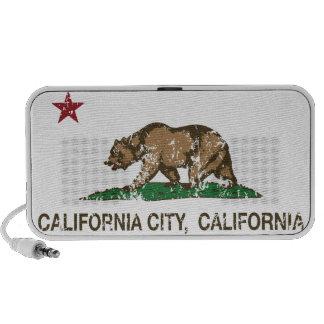 california flag california city distressed mini speakers