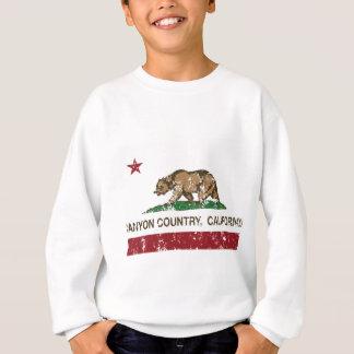 california flag canyon country distressed sweatshirt