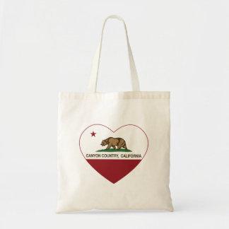 california flag canyon country heart budget tote bag