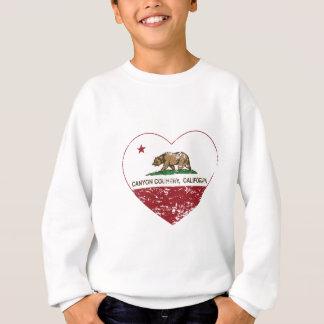 california flag canyon country heart distressed sweatshirt