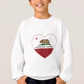 california flag canyon lake heart sweatshirt