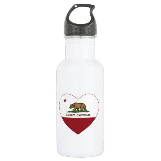 california flag cardiff heart 532 ml water bottle