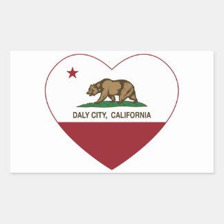 california flag daly city heart rectangular sticker