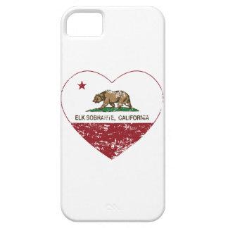 california flag elk sobrante heart distressed iPhone 5 cover