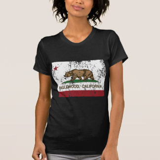 california flag inglewood distressed T-Shirt