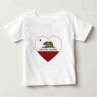 california flag inglewood heart baby T-Shirt