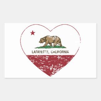 california flag lafayette heart distressed rectangular sticker