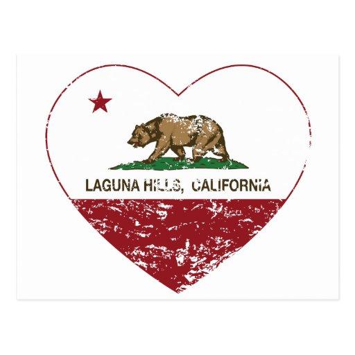 california flag laguna hills heart distressed post cards