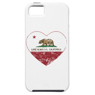 california flag lake almanor heart distressed case for the iPhone 5