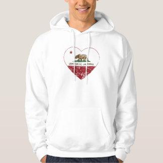 california flag lemon grove heart distressed hoodie