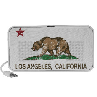 california flag los angeles distressed products notebook speaker