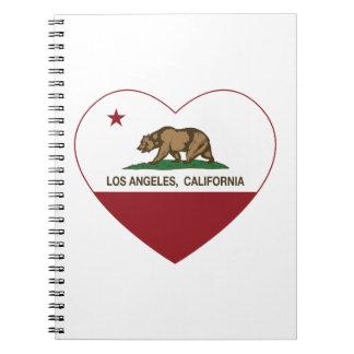 california flag los angeles heart notebook