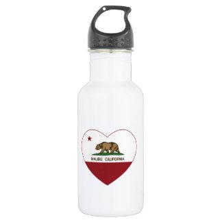 california flag malibu heart 532 ml water bottle