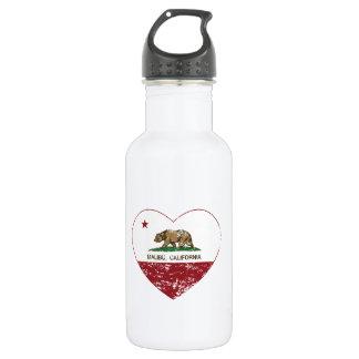 california flag malibu heart distressed 532 ml water bottle