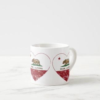 california flag malibu heart distressed espresso cup