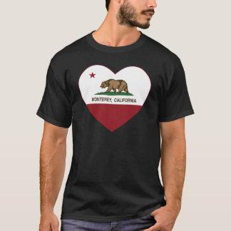 california flag monterey heart T-Shirt