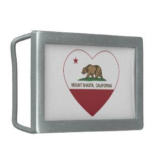 california flag mount shasta heart rectangular belt buckle