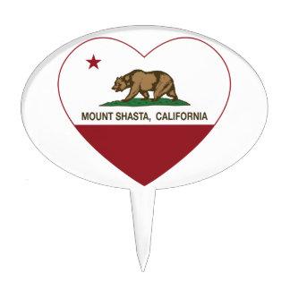 california flag mount shasta heart cake toppers