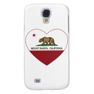 california flag mount shasta heart galaxy s4 case