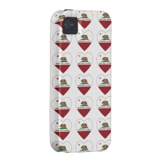 california flag mount shasta heart case for the iPhone 4
