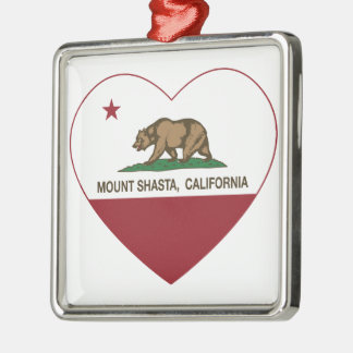 california flag mount shasta heart christmas tree ornament
