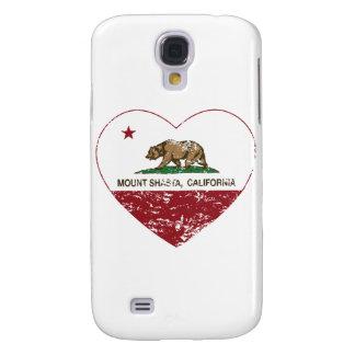 california flag mount shasta heart distressed galaxy s4 cases
