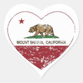 california flag mount shasta heart distressed heart sticker
