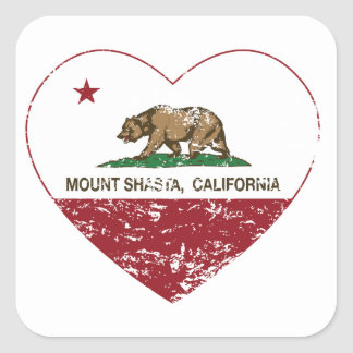 california flag mount shasta heart distressed square stickers