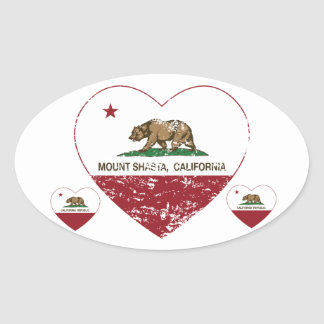 california flag mount shasta heart distressed oval stickers
