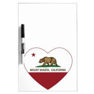california flag mount shasta heart Dry-Erase board