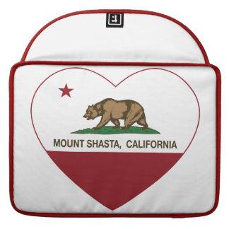 california flag mount shasta heart sleeve for MacBook pro