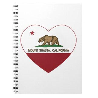 california flag mount shasta heart journal