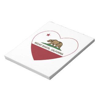 california flag mount shasta heart memo notepads