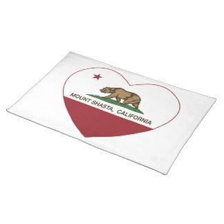 california flag mount shasta heart placemat