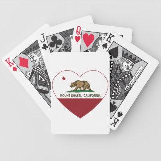 california flag mount shasta heart bicycle card decks