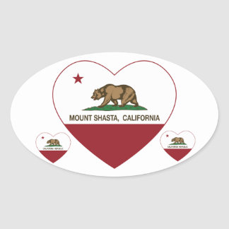 california flag mount shasta heart oval sticker