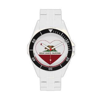california flag mount shasta heart wristwatches