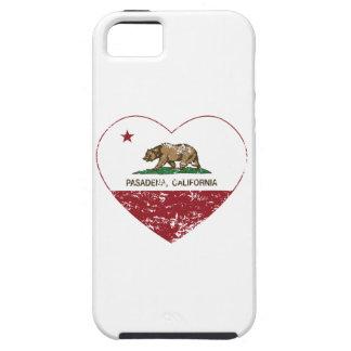 california flag pasadena heart distressed iPhone 5 case