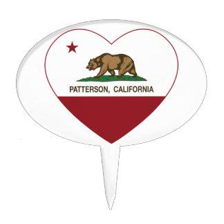 california flag patterson heart cake picks