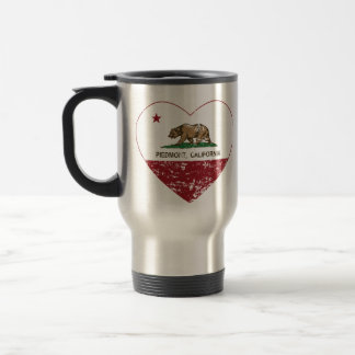 california flag piedmont heart distressed travel mug
