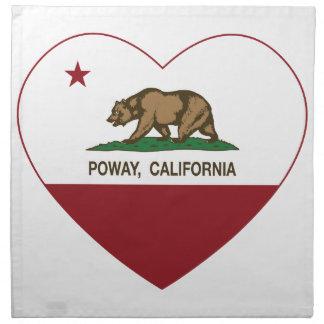 california flag poway heart printed napkins