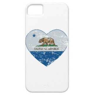 california flag republic heart blue and grey iPhone 5 covers