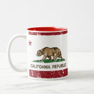 california flag republic state flag Two-Tone mug